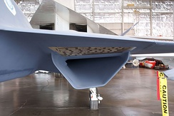 YF-23 S-duct engine air intake conceals engine from probing radar waves
