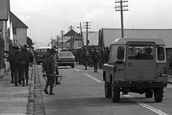 Argentinian soldiers in Port Stanley, 2 April 1982