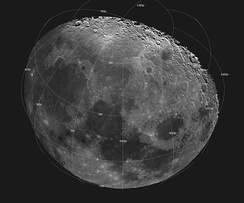 The Moon as seen in a digitally processed image from data collected during the 1992 Galileo spacecraft flyby