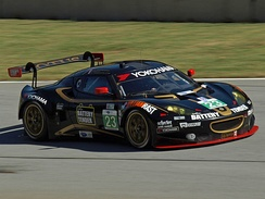 Townsend Bell in an Evora GTE during 2012 Petit Le Mans
