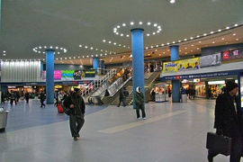 Concourse of Penn station in New York City