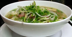 Pho, one of the most popular Vietnamese dishes