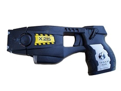 Police issue X26 TASER device with cartridge installed
