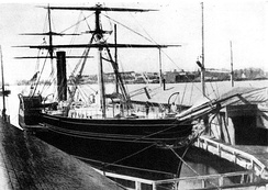 Europa of 1848 (1850 GRT). This is one of the earliest known photos of an Atlantic steamship.