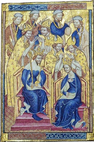 Anne and Richard's coronation in the Liber Regalis of Westminster Abbey