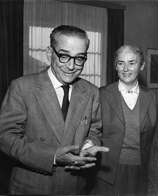 Andrić with his wife Milica upon learning he had won the Nobel Prize in Literature