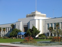 Santa Monica City Hall, designed by Donald Parkinson, with terrazo mosaics by Stanton MacDonald-Wright