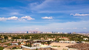 Spring Valley, as seen from the affluent Spanish Hills community, 2016. The Las Vegas Strip is in the background.