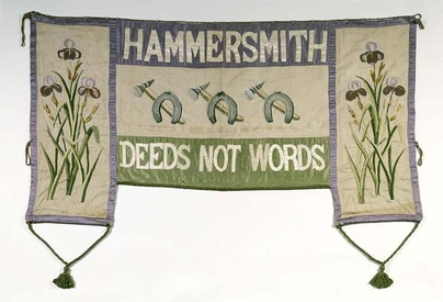 Hammersmith WSPU 'Deeds Not Words' Banner – Museum of London