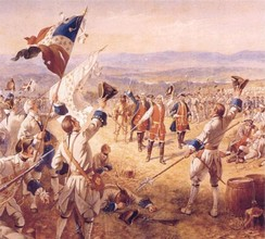 The Victory of Montcalm's Troops at Carillon by Henry Alexander Ogden