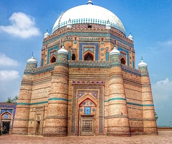 The Tomb of Shah Rukn-e-Alam located in Multan, Pakistan. Known for its multitude of Sufi shrines, Multan is nicknamed the ''City of Saints''.