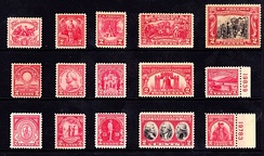Two Cent Red Sesquicentennial issues of 1926–1932