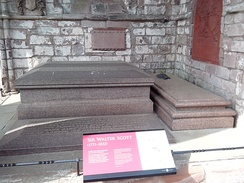 Sir Walter Scott's grave at Dryburgh Abbey