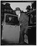 William Bankhead exiting automobile outside State, War & Navy building LCCN2016876254.jpg