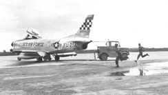 16th Fighter-Interceptor Squadron F-86D Sabre[note 3]