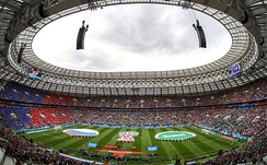 Russia received widespread praise as World Cup hosts. Facilities—such as the refurbished Luzhniki Stadium (pictured)—were one aspect of Russia's success.