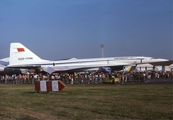 Aeroflot Tupolev Tu-144 at the Paris Air Show in 1975.