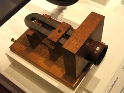 Alexander Graham Bell's big box telephone, 1876, one of the first commercially available telephones - National Museum of American History