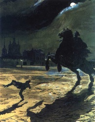 Alexandre Benois's illustration to the poem (1904)