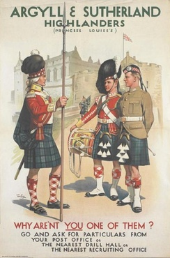 A 1914 recruiting poster for the Argyll & Sutherland Highlanders