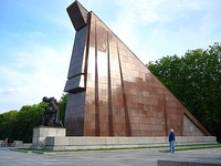 A part of the Soviet War Memorial at Treptower Park, supposedly built from red marble – actually granite – which was said to be taken from the ruins of the New Reich Chancellery.