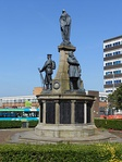 Bootle War Memorial, including flight of steps and flanking stone tablets