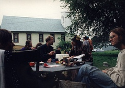 Brad Will (far right) at the Dreamtime Village, about 1993