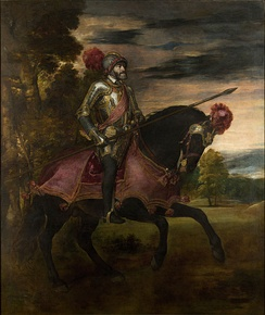 Charles V on horseback in Mühlberg. Titian, 1548, Museo del Prado, Madrid, Spain