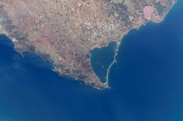 Photo of Mar Menor as seen from International Space Station.
