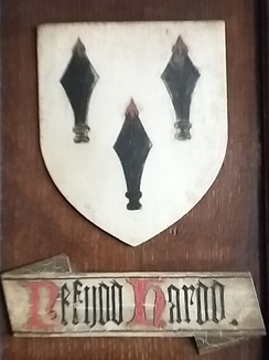 Arms of Nefydd Hardd, Chirk Castle