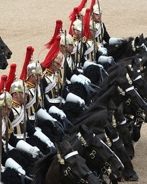 Troopers of the Blues and Royals during the 2007 Trooping the Colour ceremony