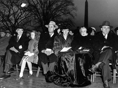 Clinton P. Anderson and wife Henrietta McCartney at the Christmas Tree Lighting Ceremony on the South Lawn of the White House, December 24, 1947.