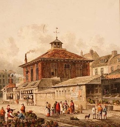 London's Clare market by Thomas Shepherd, 1815