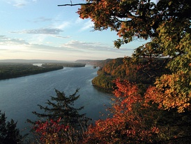 The Upper Mississippi River near Harpers Ferry, Iowa