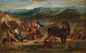 Eugène Delacroix's painting of the Roman poet, Ovid, in exile among the Scythians[83]