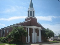 First Baptist Church at 117 Cora Street in Center is located next to the downtown section.