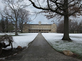 Founders Hall after snowfall