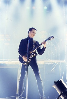 Numan performing in February 1980