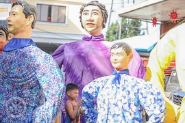 Higantes, giant papier-mâché puppets paraded during the Higantes Festival from the Philippines