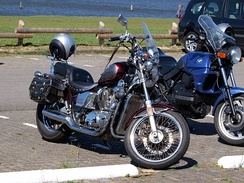 Honda VT800 Shadow photographed in Valkenburg, South Holland
