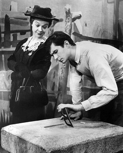 Perkins with Jo Van Fleet in the Broadway play Look Homeward, Angel, 1957