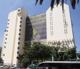 The Kenya Commercial Bank headquarters at KENCOM House in Nairobi.