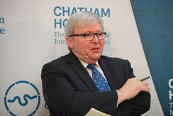 Rudd at an event held at Chatham House in London during 2015