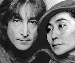 Lennon and Ono in 1980, shortly before his murder