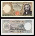 100,000 lire – obverse and reverse – printed in 1967