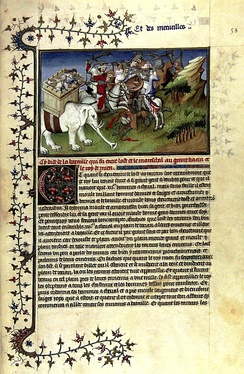 A page from Il Milione, from a manuscript believed to date between 1298–1299.