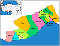 Districts of Mersin Province