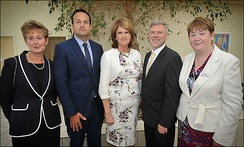 Varadkar at the opening of a unit at Connolly Hospital, Blanchardstown, July 2014