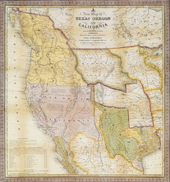 A New Map of Texas, Oregon, and California, Samuel Augustus Mitchell, 1846