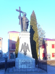 Statues in Fontiveros of John of the Cross, erected in 1928 by popular subscription by the townspeople
